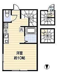 プライムコート 西新井[3階]の間取り