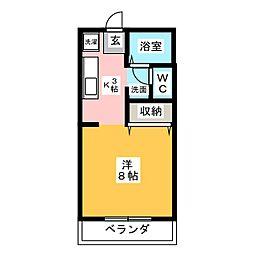 パステル庭瀬 A棟[1階]の間取り
