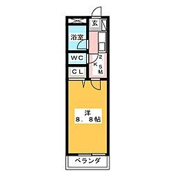 京屋ビル[3階]の間取り