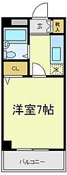 アパルト四天王寺2[3階]の間取り