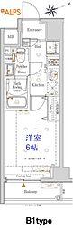JR京浜東北・根岸線 桜木町駅 徒歩10分の賃貸マンション 5階1Kの間取り