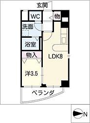 パラシオン千代田[9階]の間取り