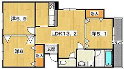 プレジール77[2階]の間取り