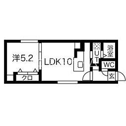 (仮)手稲本町1-1MS 3階1LDKの間取り