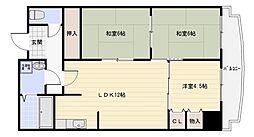 サチ東山本[401号室]の間取り