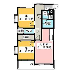 アレルトK[2階]の間取り