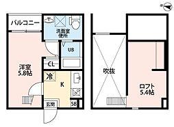 (仮称)小幡南2丁目アパートII[202号室]の間取り