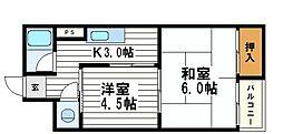 シャトー岬[2階]の間取り