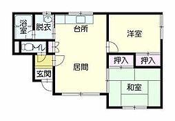 ホワイトハイツ3[2階]の間取り