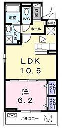サニーレジデンス稲田本町[108号室号室]の間取り