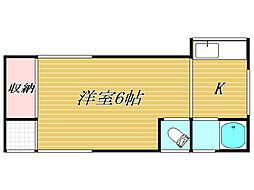 ハイムヨコヤマ[1階]の間取り