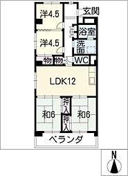プラザ小幡305号室[3階]の間取り