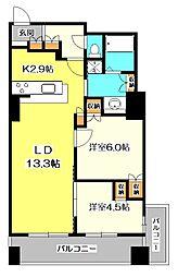 東京都小金井市本町6丁目の賃貸マンションの間取り