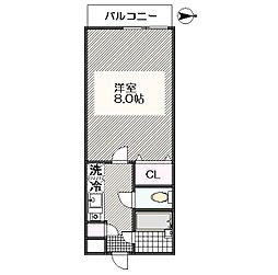 東京都江戸川区東葛西5丁目の賃貸マンションの間取り