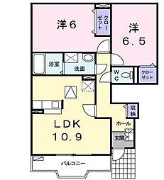 アレグリーアB[2階]の間取り