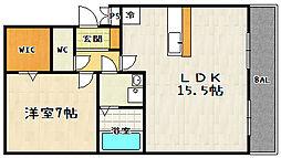 レークタウンA棟[105号室]の間取り