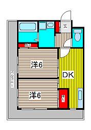 不二西堀マンション[1階]の間取り