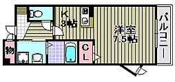 グレース三田[206号室]の間取り