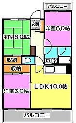 東京都西東京市北町2丁目の賃貸マンションの間取り