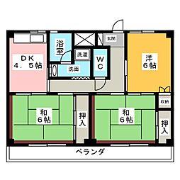 ビレッジハウス増田3号棟[2階]の間取り