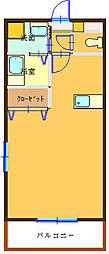 アパートAB[205号室]の間取り