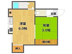 さくら荘[1階16号号室]の間取り