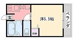 3&3[203号室]の間取り