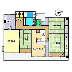 Balcony8南の丸[8階]の間取り