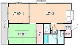 エスタ桜塚A棟[3階]の間取り