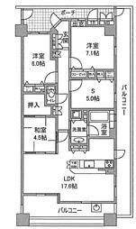 リビオ白鷺デュオ1番館 4階4LDKの間取り