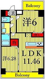 SK garden 葛西 11階1Kの間取り