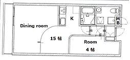 ラフィナート和泉[3階]の間取り