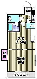 大阪府堺市堺区向陵中町3丁の賃貸マンションの間取り