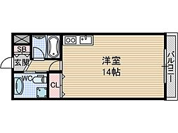 ツインリーブス[3階]の間取り