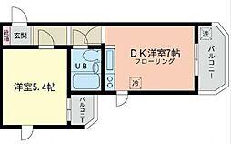 コンドレア綱島西[106号室号室]の間取り