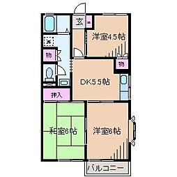神奈川県横浜市港北区新吉田東4丁目の賃貸アパートの間取り