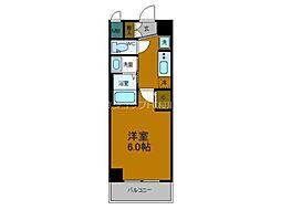 Osaka Metro中央線 弁天町駅 徒歩10分の賃貸マンション 9階1Kの間取り