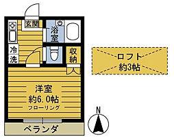 東京都江戸川区西瑞江5丁目の賃貸アパートの間取り