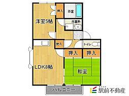 アメニティ・サンA棟[2階]の間取り