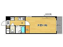 富士ラビット七条館[407号室]の間取り