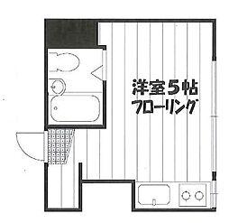 江古田ハウス[205号室]の間取り