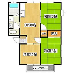 シャトー東[1階]の間取り