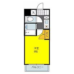 ルビダクォ荒本[5階]の間取り