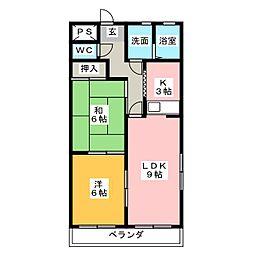 ピュアパレスNISHIKANI[2階]の間取り