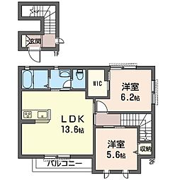 Via Sole・O[2階]の間取り