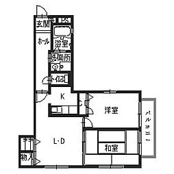 シャーメゾン岡田[201号室号室]の間取り