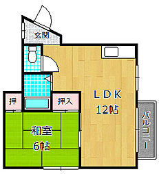 YN23[3階]の間取り