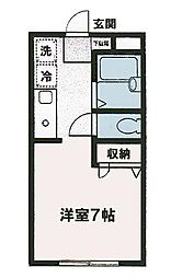 バンブーフェスタ[2階]の間取り