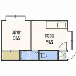 グランドール東札幌[2階]の間取り