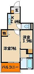 兵庫県神戸市西区伊川谷町別府の賃貸アパートの間取り